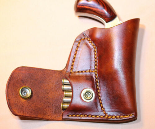 Pocket holster & ammo pouch  NAA 22 Mag 1 1/8 or 1 5/8 - Leather- fits RangerII