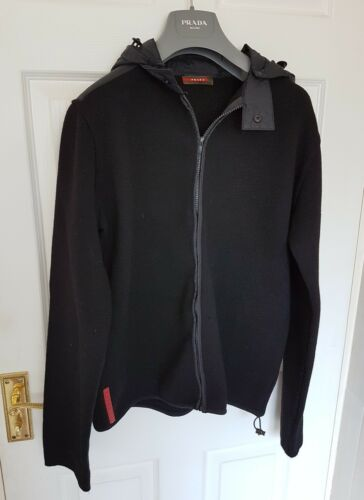 Mens Eu50 Rrp Prada Immaculate Jacket Lambswool £895 uk40 jumper Size Chic rgZqYHr