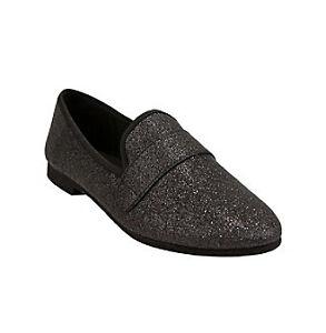 NEW STEVE MADDEN GLITTER ELTONN BLACK GLITTER MADDEN Schuhe Damenschuhe 9.5 FLATS FREE 17a029