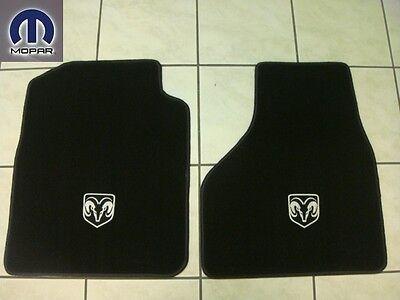 DODGE RAM 1500 2009 - 2012 FRONT CARPETED FLOOR MATS BLACK COLOR SET