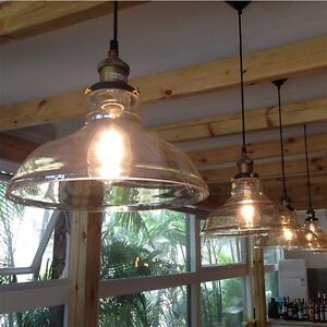Retro-Pendant-Lighting-Glass-Shade-Vintage-Industrial-Glass-Loft-Ceiling-Light