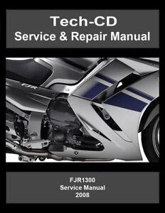 yamaha fjr1300 service repair manual fjr 1300 2008 ebay rh ebay com 2008 yamaha fjr1300 service manual 2009 FJR1300