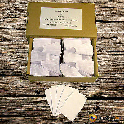 Details about  /500 2x2 Brown Paper Coin Envelopes Acid and Sulpher Free Safe for Coins