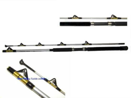 FULL ROLLER BOAT ROD 1.9m 20-50lb WRECK GAME SEA FISHING LINE BRAID LURE RIGS