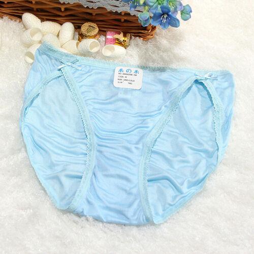5pcs Luxury Ladies Nature Silk Brief Knickers Panties Antibacterial underpant