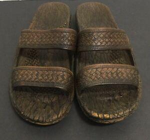 43040c649 Pali Hawaii Classics Women s Brown Rubber Sandals Shoes Slip Ons ...
