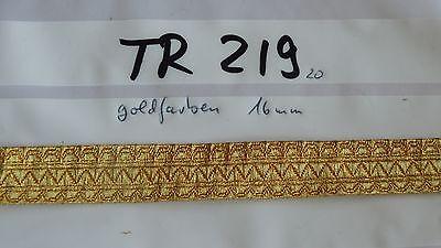 Bordüre Tresse Mittelalter Trachten goldfarben 16mm 1Meter TR219