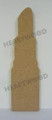 Lipstick shape in MDF 216mm x 60mm x 12mm/Beauty/Fashion