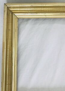Victorian-Antique-Lemon-Gilt-Fine-Art-Country-Primitive-Painting-Picture-Frame