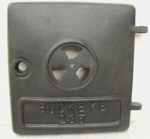 Buckeye 235 Antique Vtg Wood Coal Potbelly Cast Iron Stove