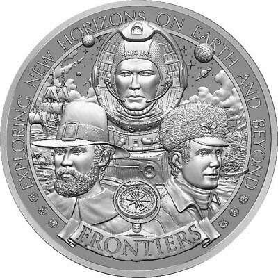 2020 Frontiers Series Pilgrims 1 oz silver USA Made BU Round HR Bullion Coin
