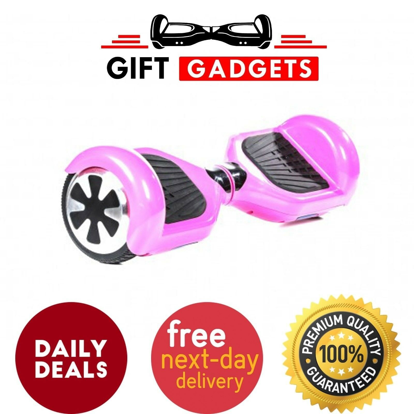 UK LED CLASSIC PINK E-SCOOTER BALANCE LED SELF BALANCING ELECTRIC SCOOTER 6.5