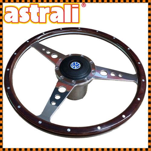 "14/"" astrali ® classic wood rim volant patron Fits VW Beetle jusqu/'à 1974"