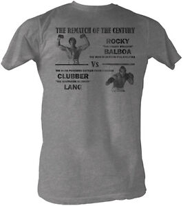 Rocky Rematch Of The Century Rocky VS Clubber Lang Adult T Shirt Classic Movie