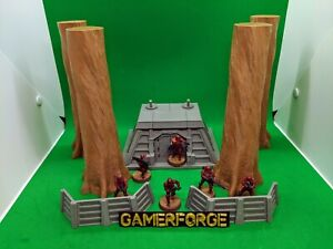 Endor-Forest-Buildings-Set-Pour-STAR-WARS-Legion-28-mm-40k-Terrain-scenery-wargame