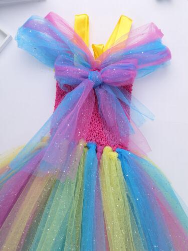 Girls Mesh Dress Birthday Party Tutu Dress Hair Hoop Cosplay Halloween Costume