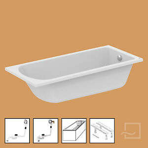 ideal standard badewanne mit f en tr ger ablaufgarnitur hotline new 180 x 80 cm ebay. Black Bedroom Furniture Sets. Home Design Ideas