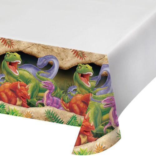 """Dino Blast Plastic Table Cover 54/""""x 108/"""" Dinosaures Garçons Fête D/'anniversaire vaisselle"""
