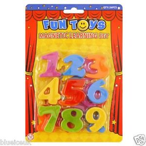 NEW SET OF 26 MAGNETIC NUMBERS FRIDGE MAGNETS LEARNING AND TEACHING