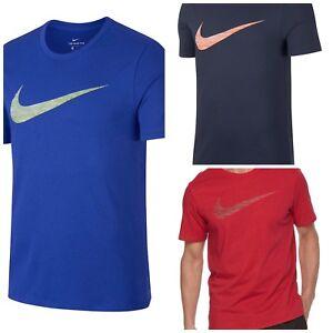 839893 Self-Conscious Nwt$25 Men's Nike Dri Fit Big Swoosh Training Ss Tee Shirt Matching In Colour
