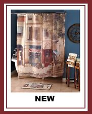 Café De Paris Bath Bathroom Shower Curtain French Espresso starbucks scene NEW