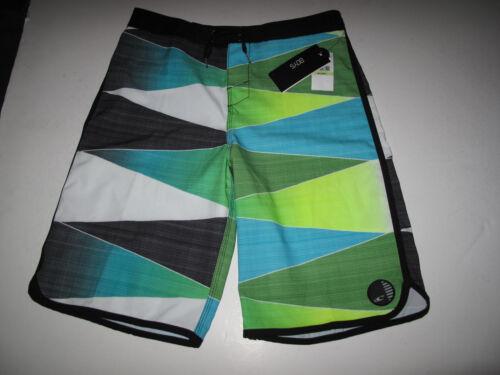 O/'Neill Boys 20//30 Waist Green Blue Black Averted Surf Board Shorts NWT Stretch