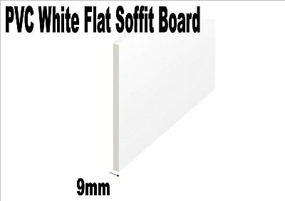 300mm 12 inch wide White plastic PVC UPVC flat soffit board utility board 9mm