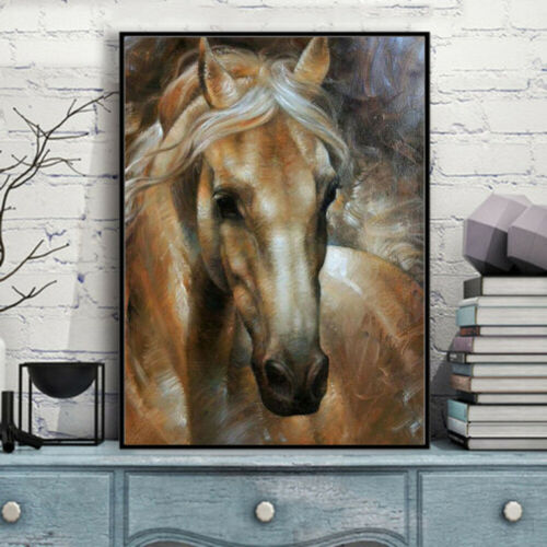 Full Drill 5D Diamond Painting Horse Cross Stitch Kits Embroidery Home Decors