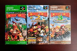Super-Famicom-SFC-Super-Donkey-Kong-1-2-3-Country-Boxed-Japan-game-US-Seller