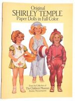 Vtg 1988 Shirley Temple Childrens Museum (dover) Paper Dolls Book / Booklet