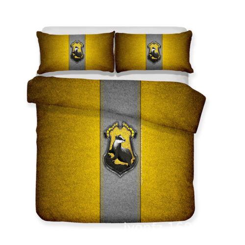 3D Harry Potter Design Bedding Set 2PC//3PC Of Duvet Cover /& Pillowcase-4 Sizes