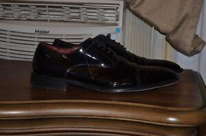 Hugo-Boss-Black-Patent-Leather-Tuxedo-Shoes-Uk-10-5-Us-11-5-Very-Nice