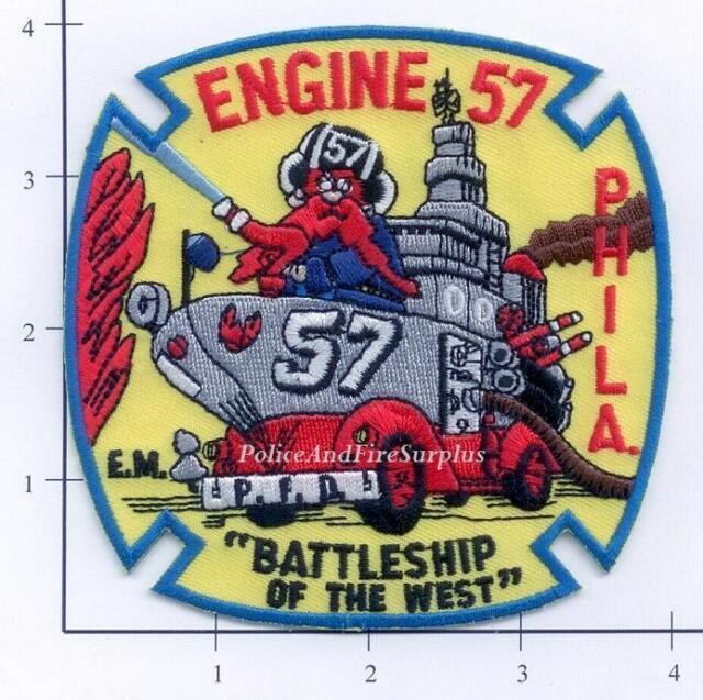 "4/"" x 4/"" size fire patch Philadelphia  Engine PA 57  /""Battleship of West/"""
