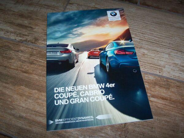 2019 Nieuwe Stijl Catalogue / Brochure Bmw Serie 4 / 4 Series 2017 // Snelle Kleur