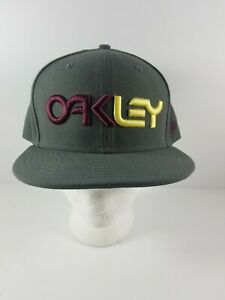 Oakley-Spellout-Hat-7-5-8-Two-Color-Embroidered-Burgundy-Yellow-59Fifty-New-Era