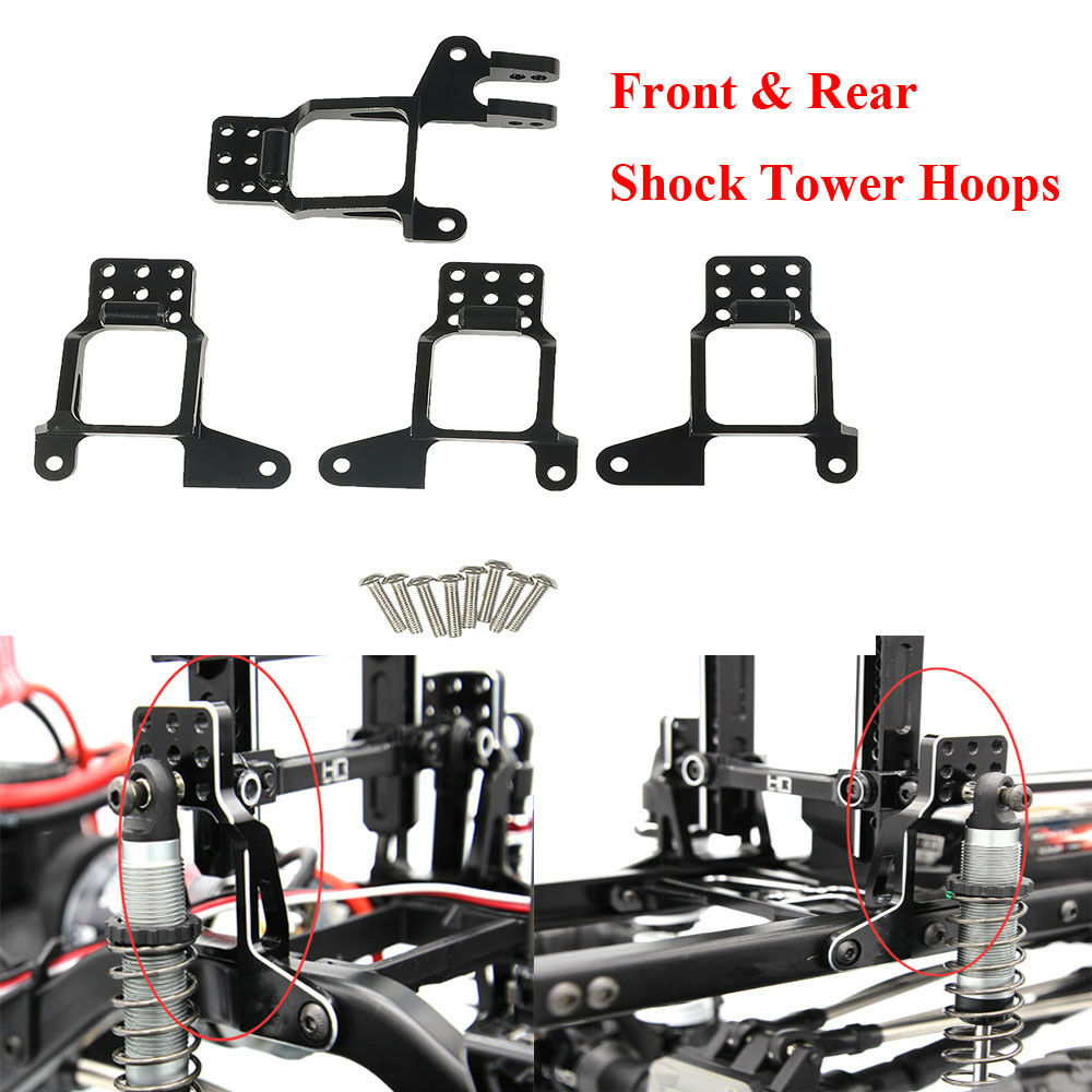 Replacement of 8216 Hobbypark RC Aluminum Front /& Rear Shock Towers Hoops Bracket Mounts Hop-ups for Traxxas TRX-4