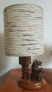 Lamp Bear Wooden of The Foret Black