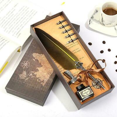 Quill Pen Antique Calligraphy Feather Handmade Quill Set ...