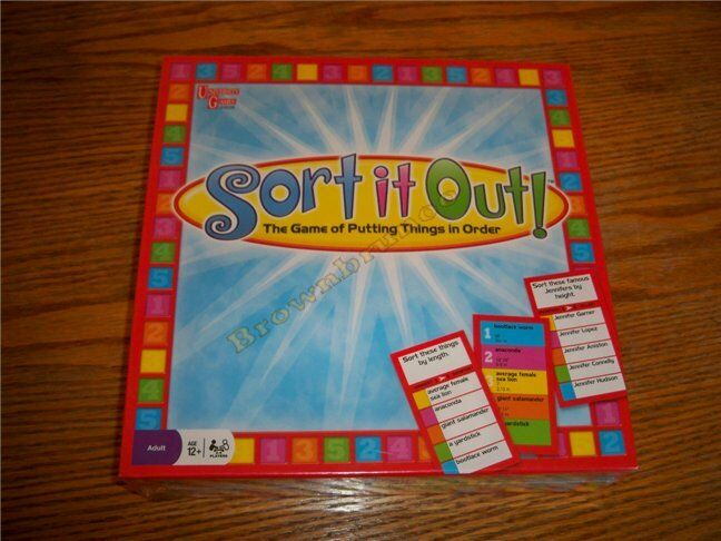 Sort It Out  Family Board Game by University Games NEW