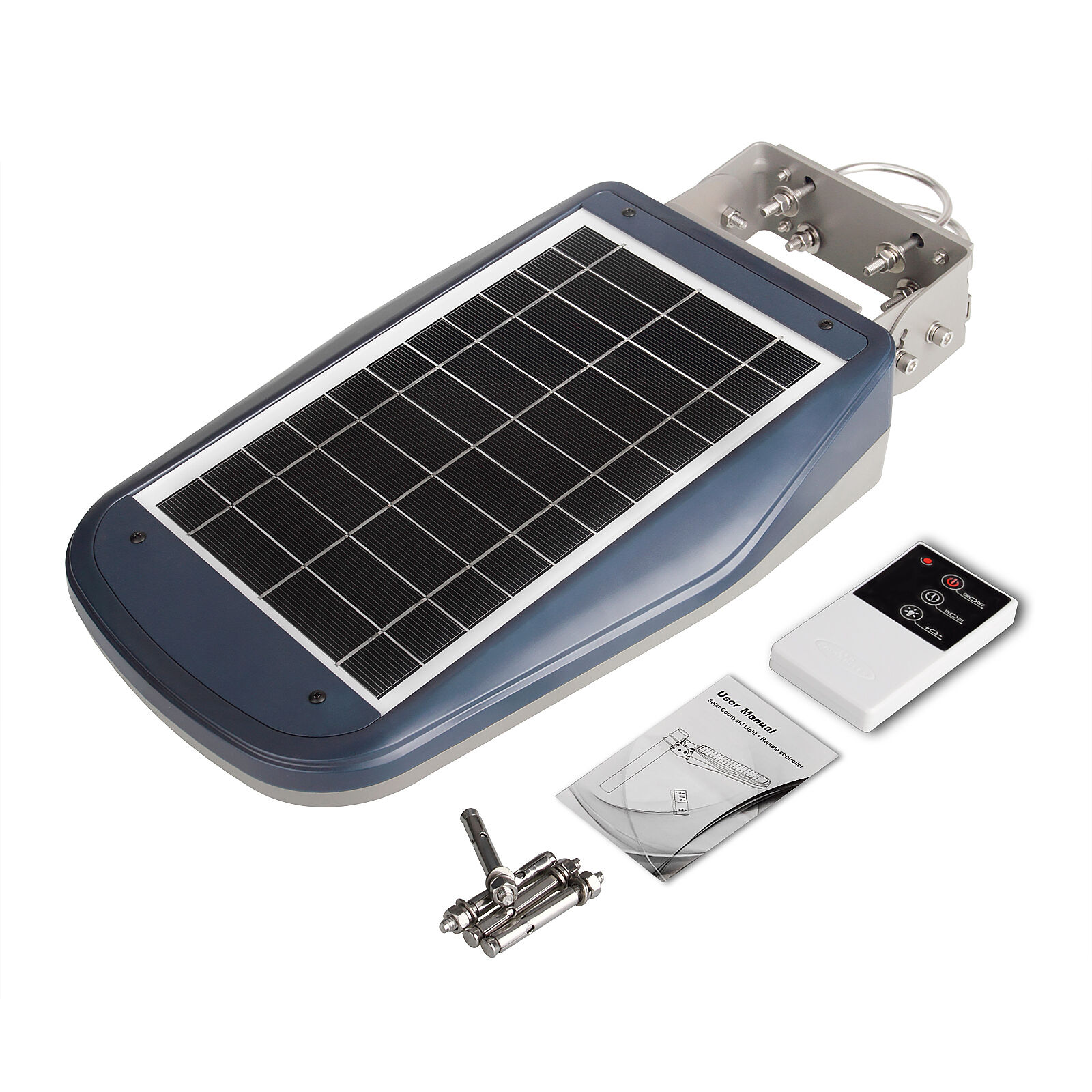 Led Solar Street Light With Remote 30 Leds 1000 Lm Night