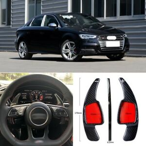 Carbon-Fiber-Gear-DSG-Steering-Wheel-Paddle-Shifter-Cover-Fit-For-Audi-S3-17-18