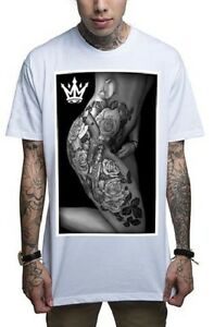 Details About Mafioso Clothing Body Art Hot Sexy View Black Urban Tattoo Mens White T Shirt