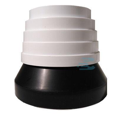 riduzione doppia a piramide per cappa da 15 a 10 nera plastica ACC-FAB Faber
