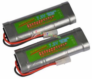 2x-7-2V-4600mAh-Ni-MH-Rechargeable-Battery-RC-Tamiya