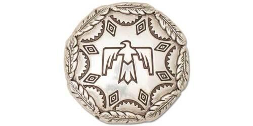 7126-03 THUNDERBIRD CONCHO 1-1//4in NICKEL FREE Antique Silver WBL