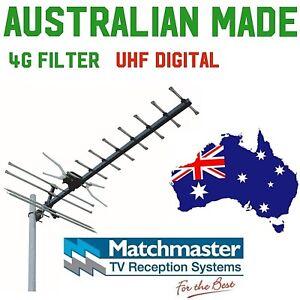 tv antenna uhf Matchmaster Australian Made digital hdtv rg6