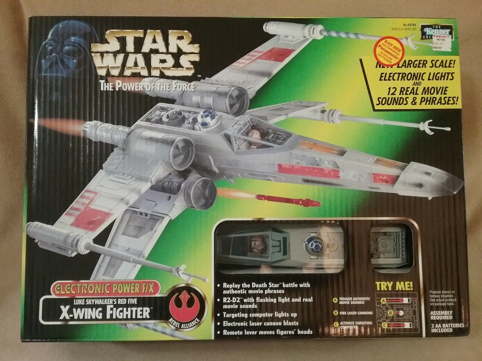 Stern Wars Electronic F X X-WING FIGHTER Luke's rot Five Power of the Force  02