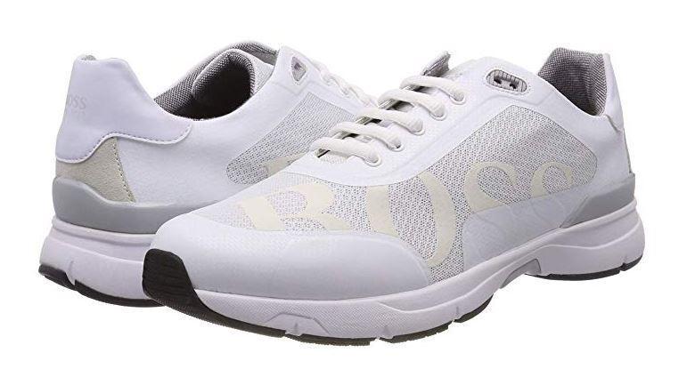 Velocidad de correr con el logotipo de Hugo Boss 2 Para Hombre blancoo Zapatillas Tamaño 5UK (39EU)