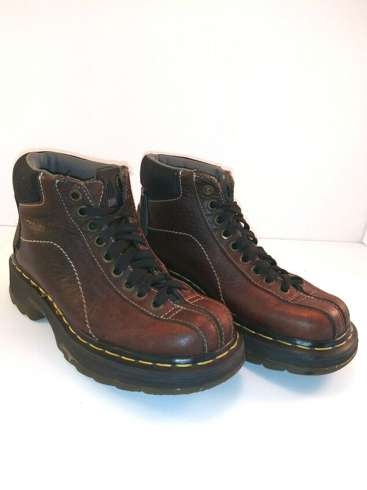 DOC DR MARTEN 9793 Hombre Marrón Cuero botas Vintage dedo del pie división
