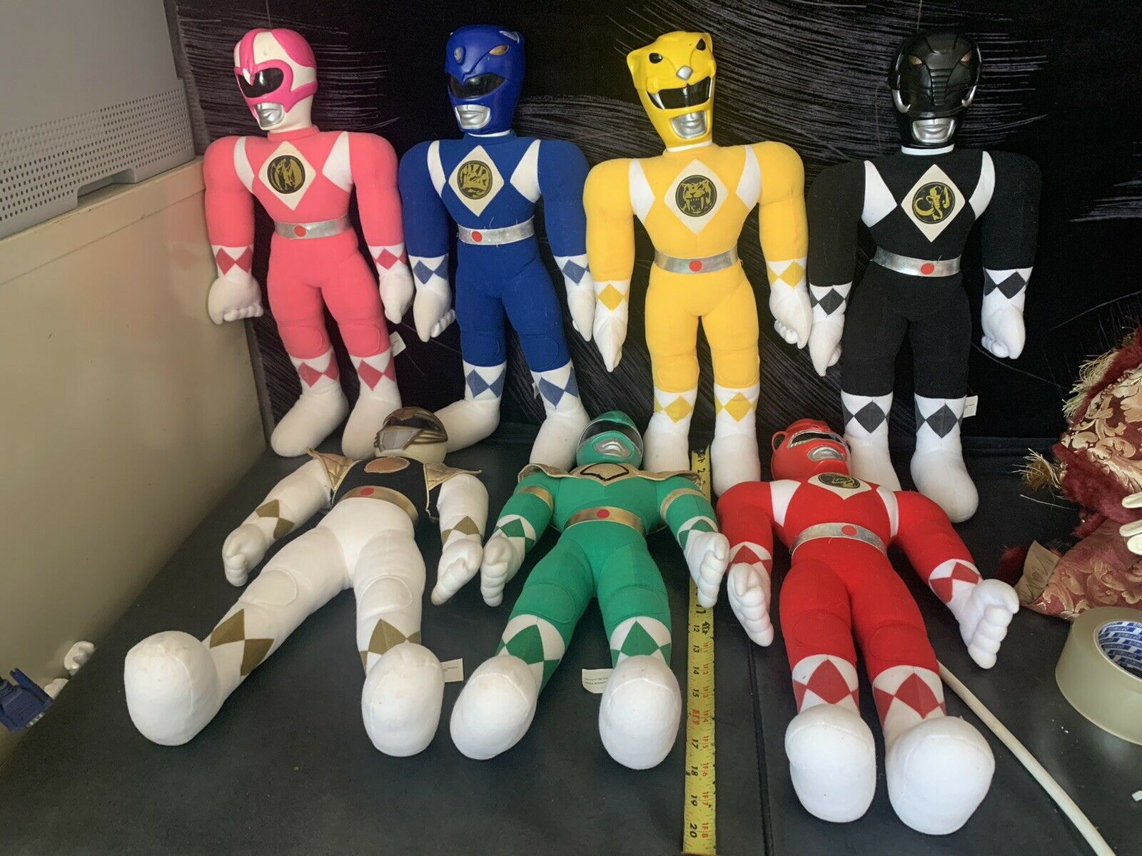 Mighty Morphin Power Ranger Felpa 1993 -18  Lote de (7)